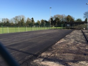 Chiseldon Tennis Club courts being resurfaced
