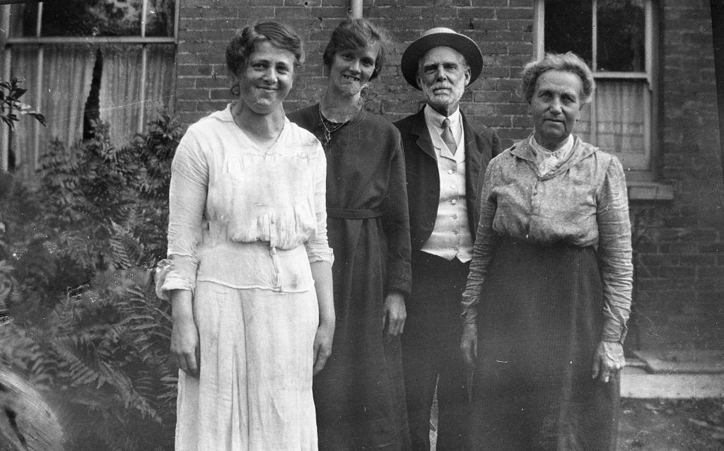 The Dixon family, from Swindon, taken in the 1920s