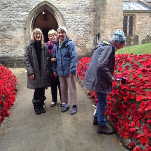 Residents and poppies 2018