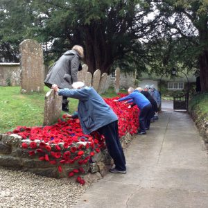 Poppies being laid 2018