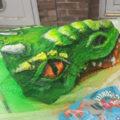 Local artist snake head 3