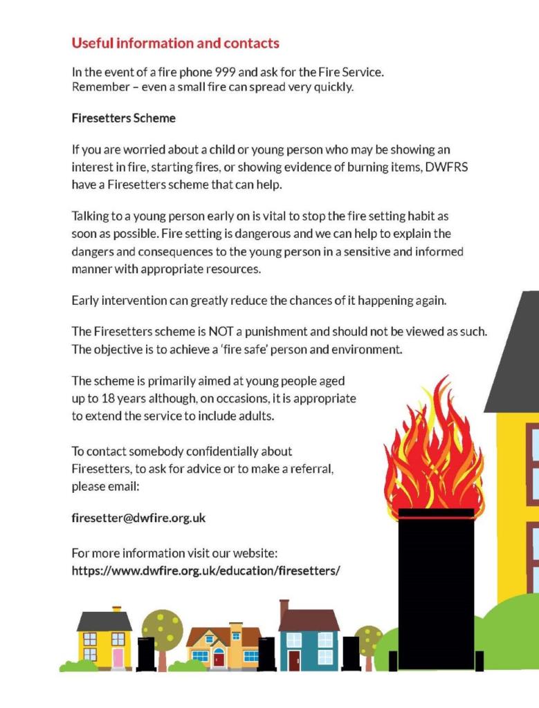 Fire service - fire in bins 2