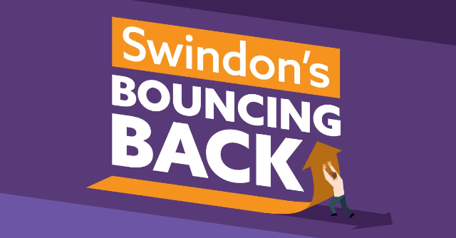 Swindon's bouncing back poster