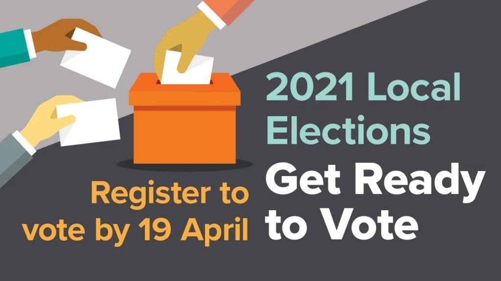 2021 local elections advert