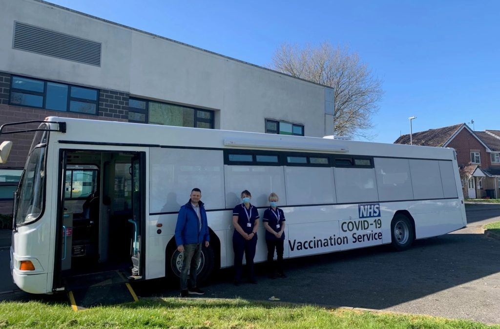 COVID 19 vaccination bus