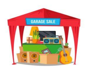 Clipart of a garage sale