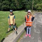 Children litter picking