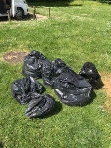 Bin bags full with rubbish
