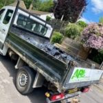 Lorry with bin bags of rubbish in