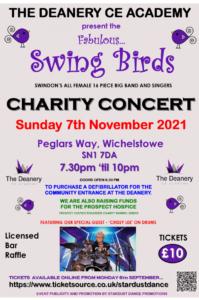 """Swing Birds"" Charity Concert poster"